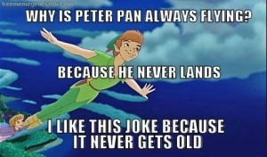 why-is-peter-pan-always-flying